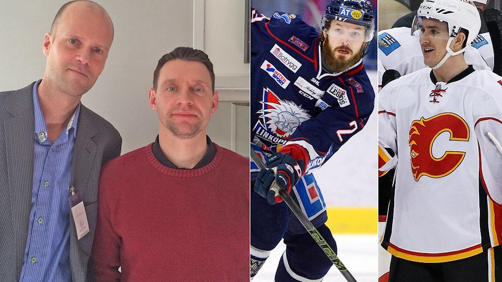 Från vänster: Mattias Ek, Kristofer Ottossson, Niklas Persson och Mikael Backlund.