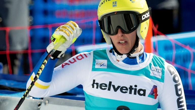 Kajsa Kling nöjd efter världscupavslutningen i St. Moritz.