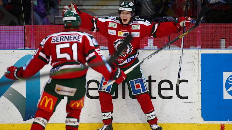 Arkivbild: Artturi Lehkonen jublar efter 4-2 målet mot Djurgården i första kvartsfinalen.