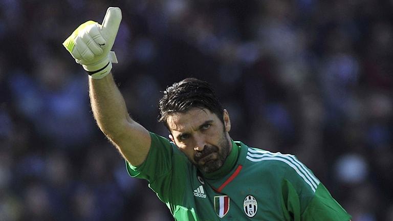Gianluigi Buffon under matchen mot Torino