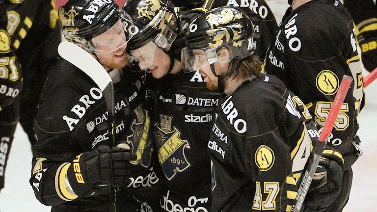 Arkivbild: AIK jublar.