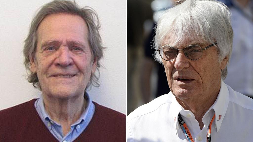 Fredrik af Petersens (t.v.) och Bernie Ecclestone