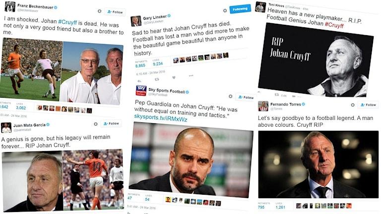 Reaktioner på Cruyffs död