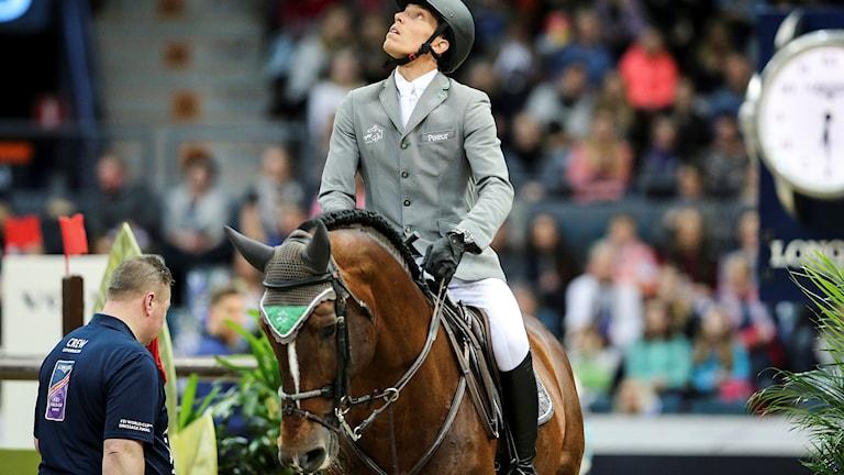 Henrik von Eckermann på den ukrainskägda hästen Giljandro.