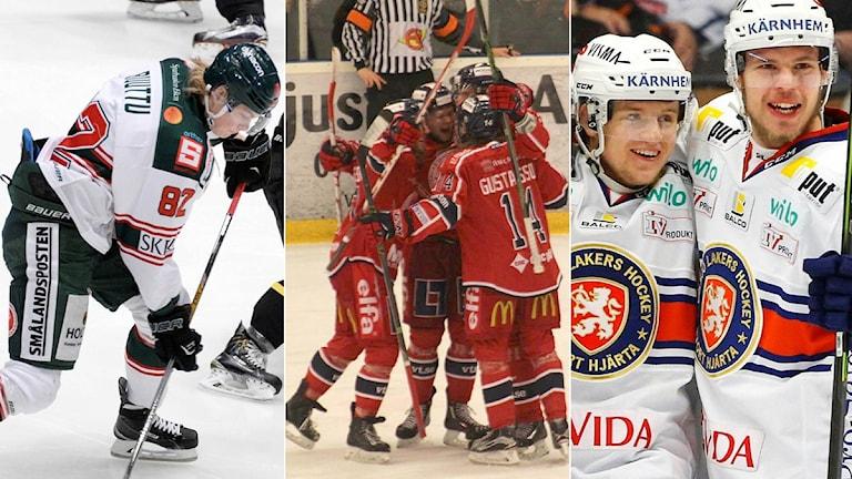 Collage Smålandshockeyn. Foto: SR och TT