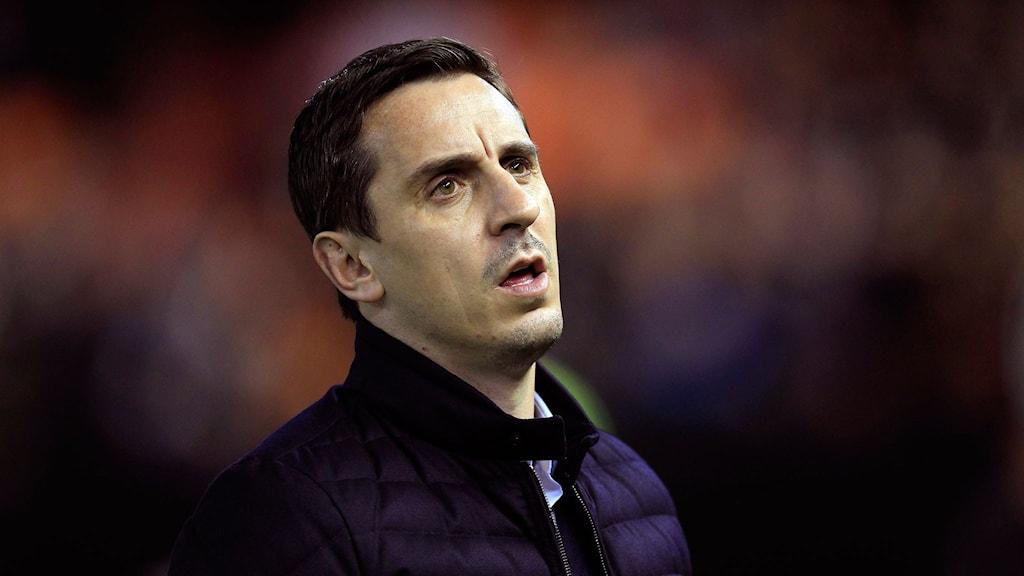 Valencias tränare Gary Neville. Foto: TT