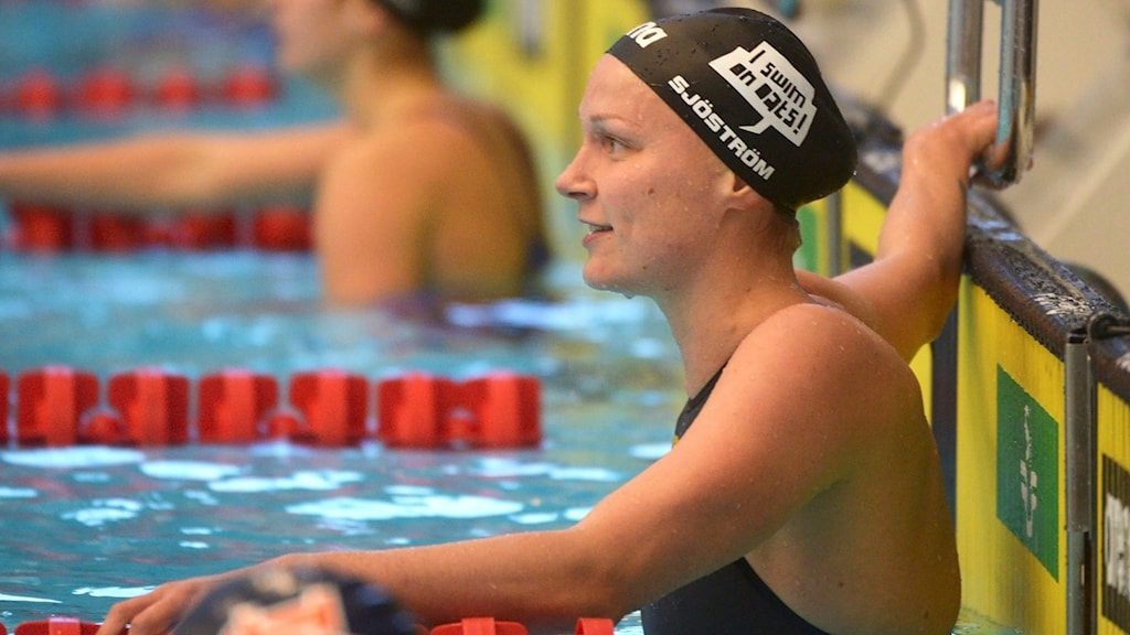 Sarah Sjöström under Stockholm Swim Open.
