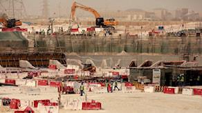 Al-Wakra Stadium byggs upp, bild från 2015.
