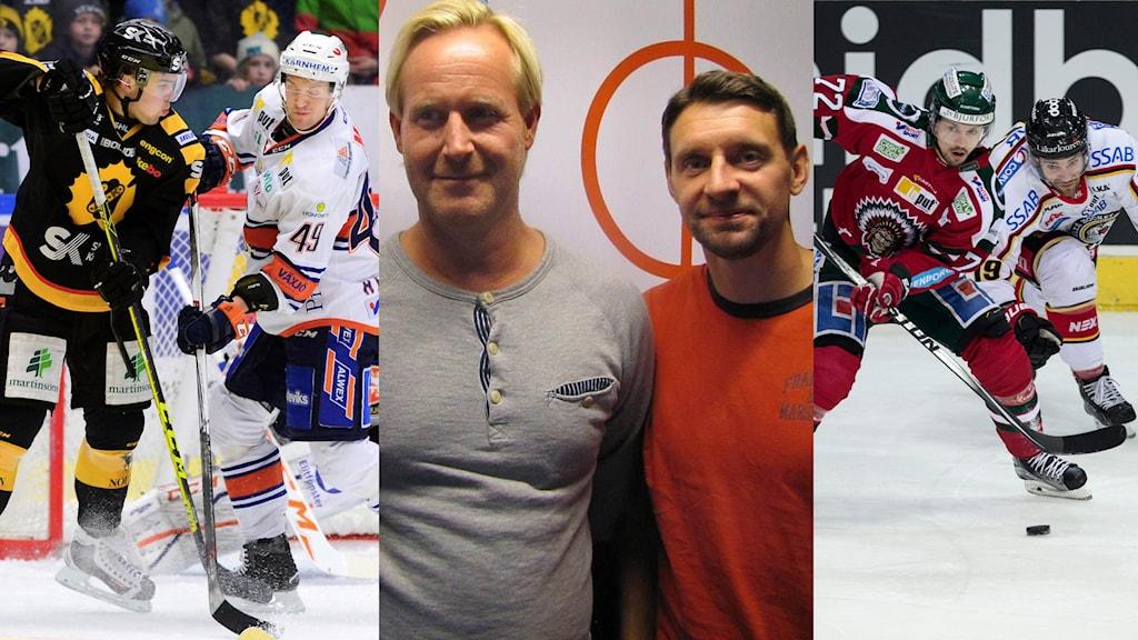 Collage semifinalhockey. Foto TT och SR