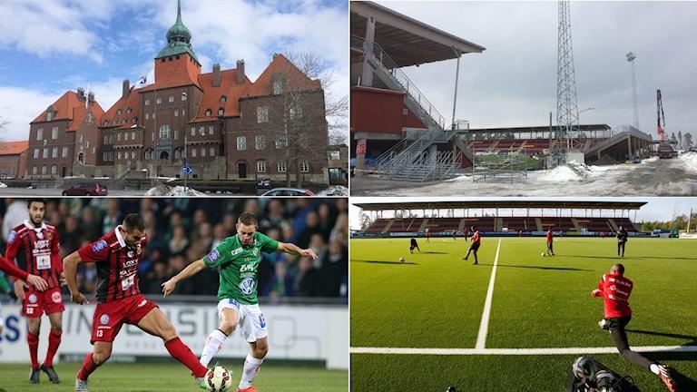Collage Östersund inför herrallsvenskan. Foto: Christer Jonasson, SR och TT