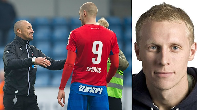 Helsingborgs Henrik Larsson och Richard Henriksson. Foto TT och SR