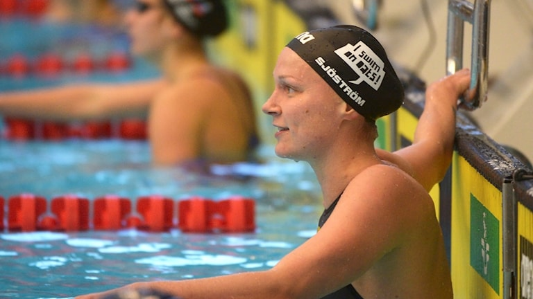 Sarah Sjöström under Stockholm Swim Open i Stockholm.