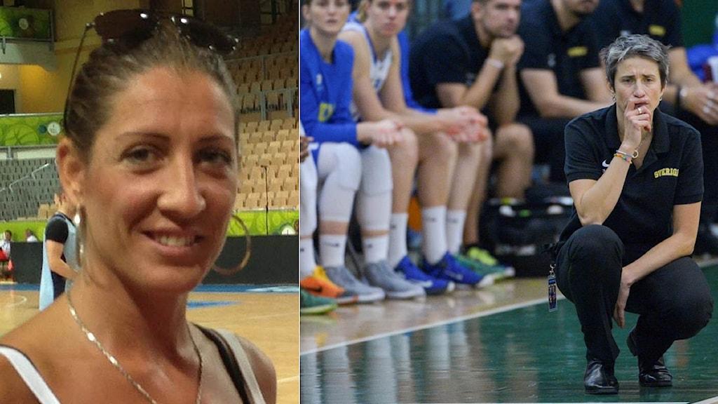 Collage Nina Baresso och Jurgita Kausaite. Foto: SR och TT