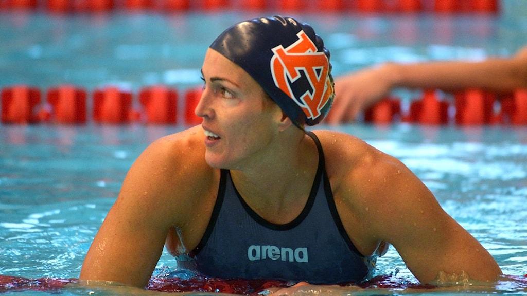 Therese Alshammar under Stockholm Swim Open 2016.