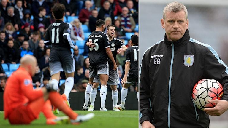 Chelsea firar segern mot Villa och nye tränaren Black deppar.