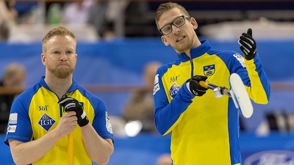 Niklas Edin och Kristian Lindström