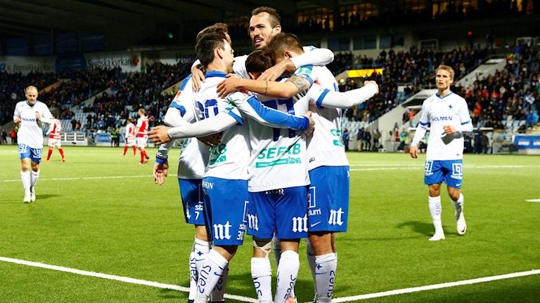 IFK Norrköping jublar mot Kalmar FF.