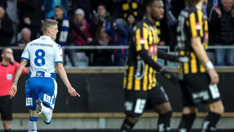 Sören Rieks firar 1-0-målet mot Häcken.