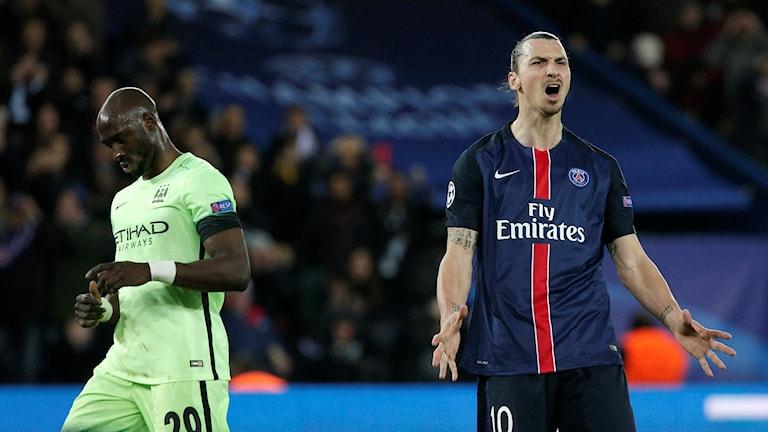 Zlatan Ibrahimovic mot Manchester City
