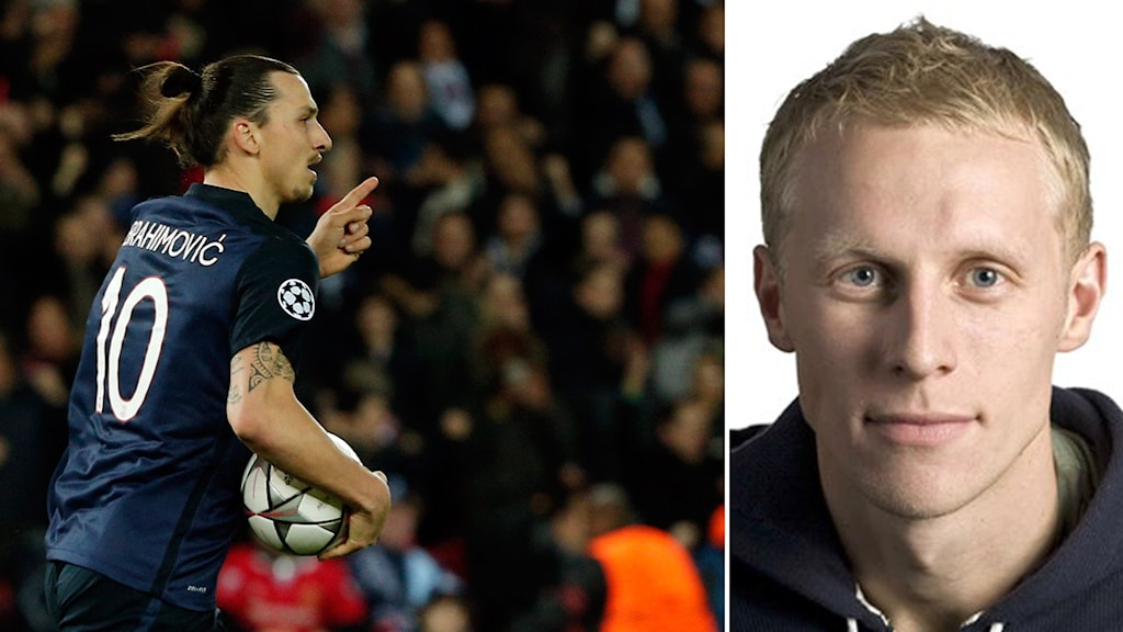 Zlatan Ibrahimovic (t.h.) och Radiosportens expert Richard Henriksson