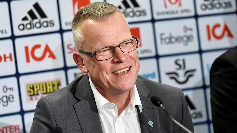 Janne Andersson presenteras som ny förbundskapten.