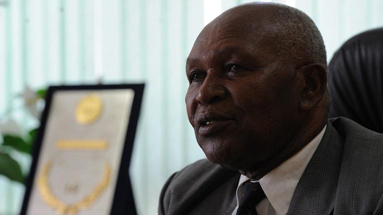 "Kipchoge Hezekiah ""Kip"" Keino, ordförande i Kenyas olympiska kommitté."
