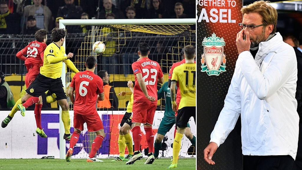 Dortmund-Liverpool, Jürgen Klopp (t.h.)