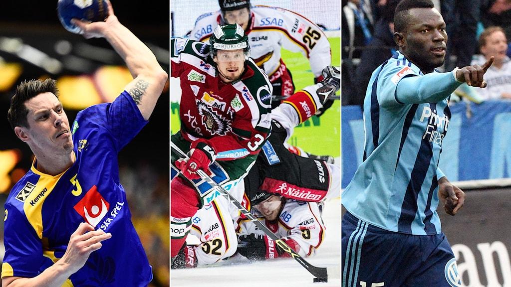 OS-kvalhandboll, SM-semifinalishockey och allsvensk fotboll dominerar sportsöndagen.