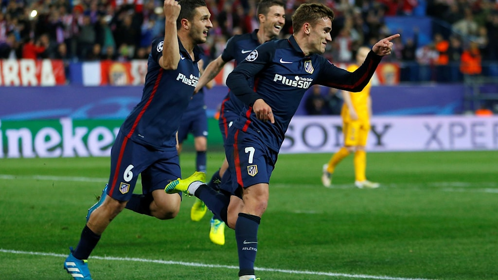 20160413 Atletico Madrids Antoine Griezmann mot Barcelona. Foto: Francisco Seco/TT