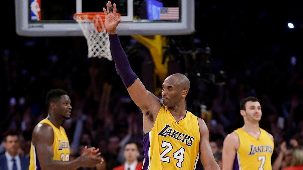 Kobe Bryant i sin sista NBA-match i karriären.