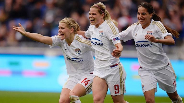 Lyon besegrade PSG med 7-0.