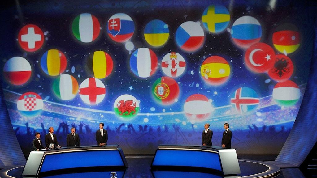Från lottningen av EM 2016 i Paris