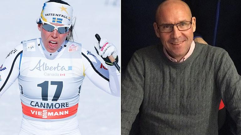 Charlotte Kalla och Torgny Mogren.