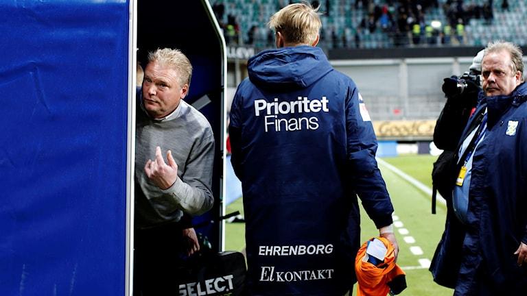 IFK Göteborgs tränare Jörgen Lennartsson på Gamla Ullevi.
