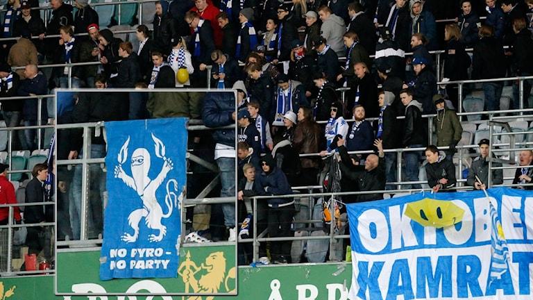 GÖTEBORG 2016-04-27 Publiken lämnar den avbrutna allsvenska fotbollsmatchen mellan IFK Göteborg och Malmö FF på Gamla Ullevi i Göteborg. Foto Adam Ihse / TT