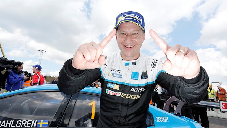 SKÖVDE 2016-05-01 Robert Dahlgren, Volvo, vann på söndagen STCC premiären i Skövde