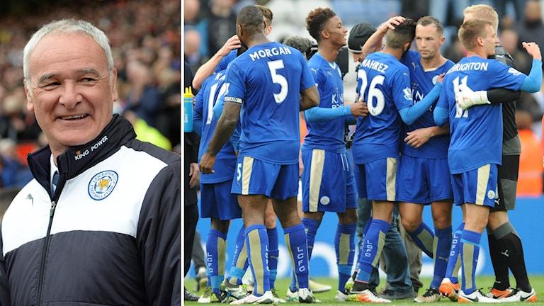 Leicesters tränare Claudio Ranieri spelare ur laget