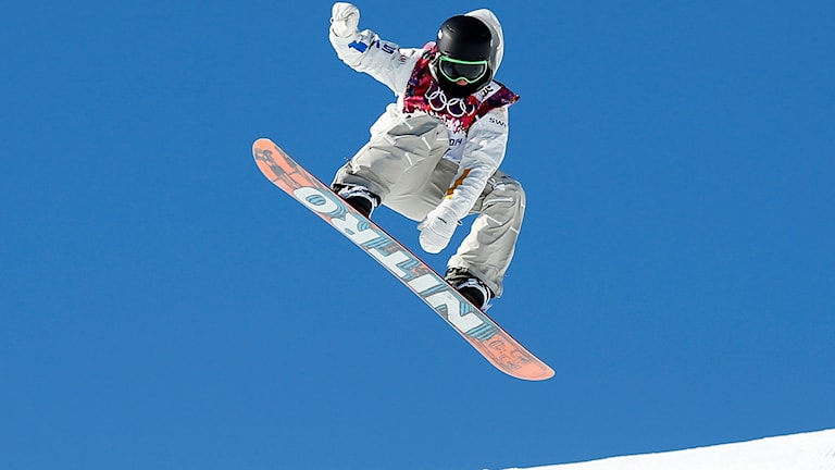 Sven Thorgren under slopestyle-finalen i Ryssland 2014.