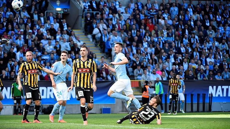 Markus Rosenberg satte 1-0-målet för Malmö FF.