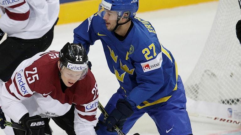 Tre Kronor besegrade Lettland med 8-1 i VM 2015.