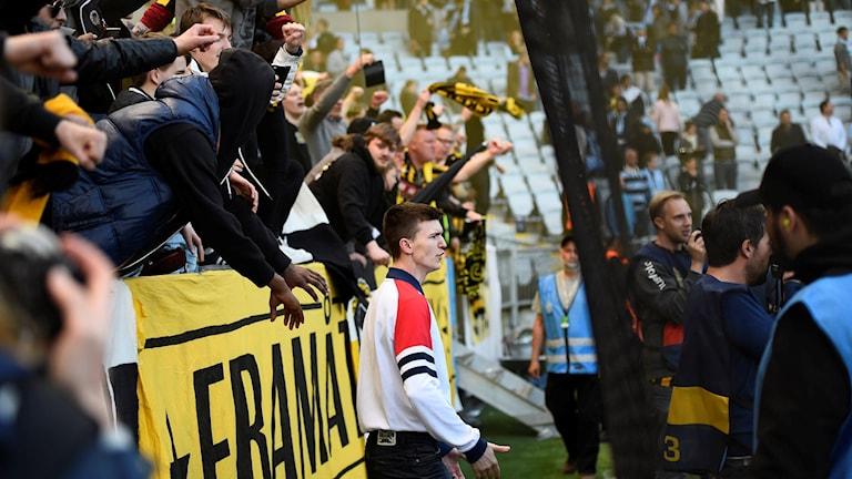 Häcken-fansen under cupfinalen.