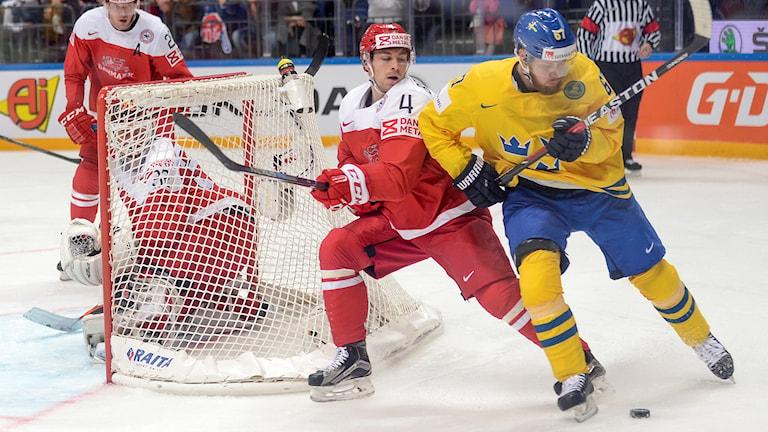Sverige mot Danmark i ishockey-VM 2016.
