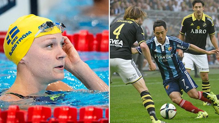 Sarah Sjöström och AIK-Djurgården.