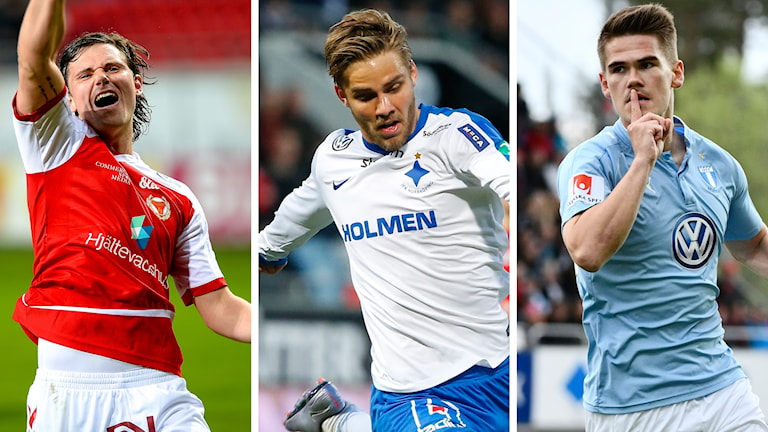 Antonsson, Nyman och Kjartansson har lämnat allsvenskan i sommar. Foto: TT