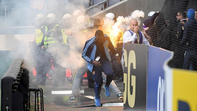 Läktaroroligheter mellan AIK - Dif