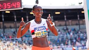 Isabellah Andersson under Stockholm Marathon 2016.
