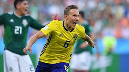 Ludwig Augustinsson målskytt mot Mexiko.
