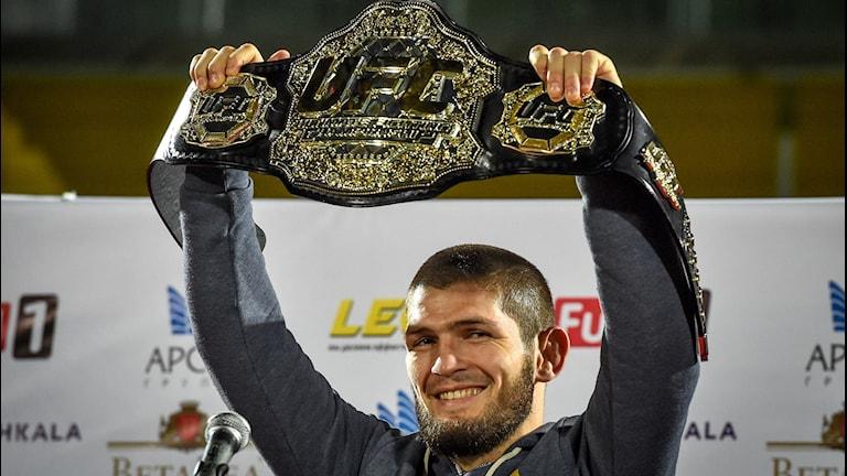 UFC lättviktsmästaren Khabib Nurmagomedov/TT