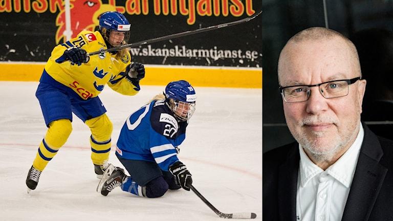 Förbundskapten Leif Boork och Sverige möter Finland i kväll.