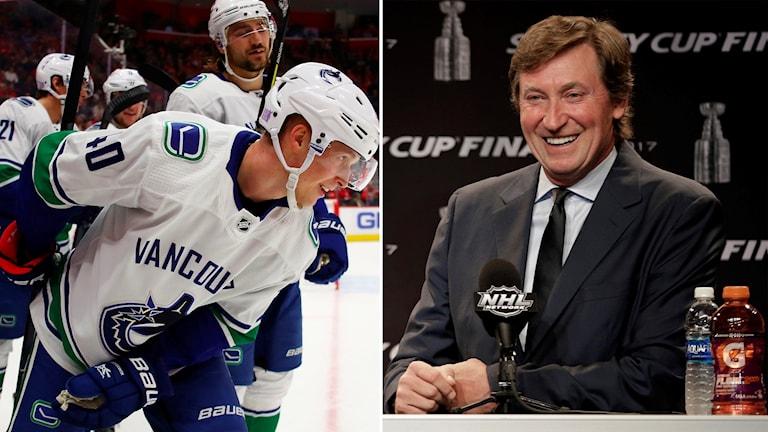 Wayne Gretzky jämför Elias Pettersson med sig själv och kallar honom en gudagåva.